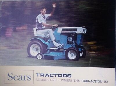 SEARS SUBURBAN CUSTOM Lawn Garden Tractor 1967 Color Sales Brochure Riding  Mower