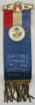 Stewartsville Grange No 121 New Jersey Antique Medal Ribbon Badge Pin (O) AS IS