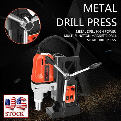 """Z3040 Magnetic Core Drill Press Machine 0.7"""" Boring 12000N Magnet Force 1100W US"""