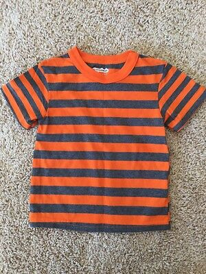 New Baby Boys Orange Gray Short Sleeve Shirt Top Cotton Garanimals 12 Months