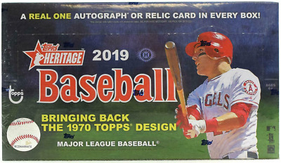 2019 Topps Heritage Hobby Baseball Box - Buy 2 Or More & Save