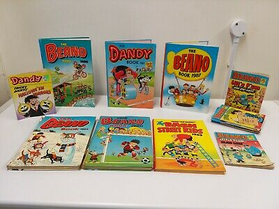 6 X Beano Dandy The Bash Street Kids Annuals + Comics 1980's All Listed