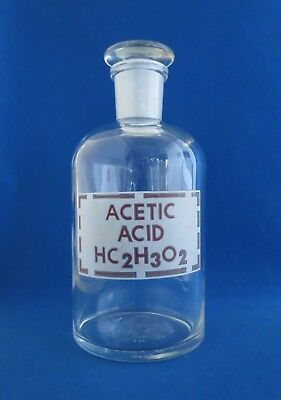 Pyrex Acetic Acid Reagent Bottle with #24 Stopper