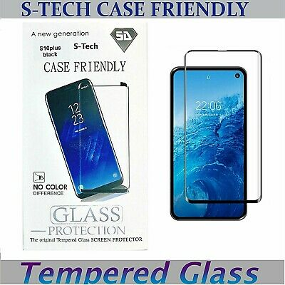 Tempered Glass Screen Protector Case Friendly Samsung Galaxy NOTE 8 9 S8 S9 S10