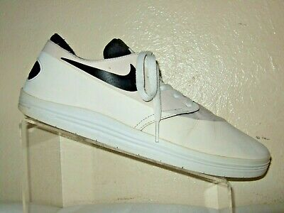 competitive price f67a5 375f2 Nike SB Lunar OneShot Black   White Skateboard Shoes Mens Size 10.5   631044-101