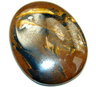 Natural Amazing golden tigers's eye 55.5ct loose stone from SilverRush Style