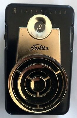 Extremely Rare Vintage 1962 Toshiba 8TP-90 Transistor Radio w/ Case Reduced$$$