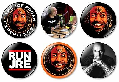 1 x Joe Rogan Experience 32mm BUTTON PIN BADGE UFC Run JRE Shirt Alpha Podcast