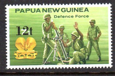 1985 PAPUA NEW GUINEA 12t DEFENCE overprint SG495 mint unhinged