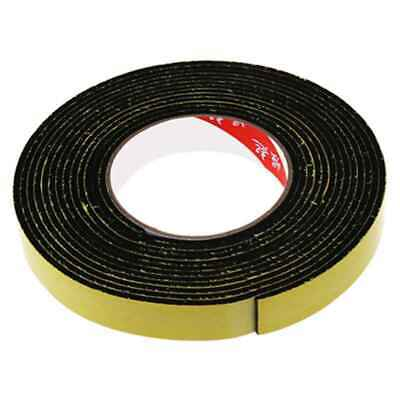 3X(5m Black Single Sided Self Adhesive Foam Tape Closed Cell 20mm Wide x 3mm 2M