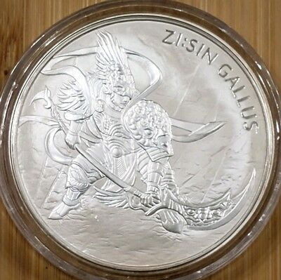 2017 South Korea 1 oz Silver ZI:SIN Gallus BU with capsule !!