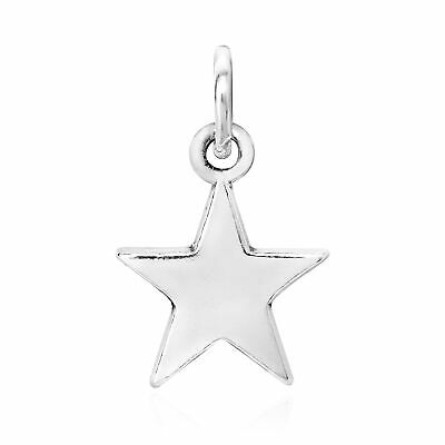 Simply Beautiful Sterling Silver Star Charm Pendant