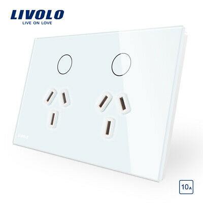 LIVOLO Touch Switch Socket Wireless Remote Dimmer Light Switch White