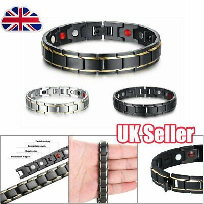Therapeutic Energy Healing Bracelet Stainless Steel Magnetic Therapy Bracelet OY