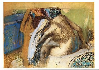 Edgar DEGAS: Woman Drying Her Hair - Brand New vintage post card