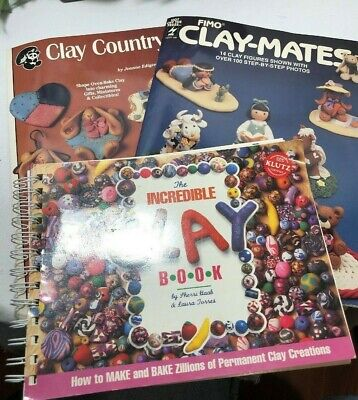 3 - Clay Books, Fimo Clay-mates, Incredible Clay Book, Clay Country