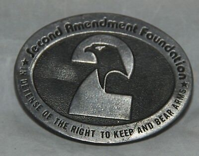 Vintage Second Amendment Foundation Belt Buckle