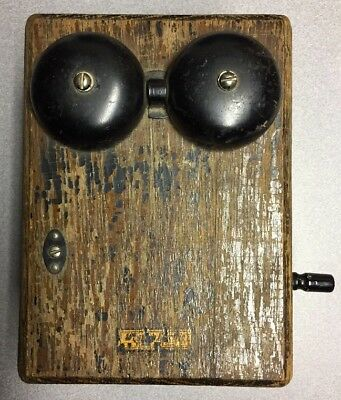Vintage Western Electric Wood Wall Crank Telephone Box Antique CollectibleOldUSA
