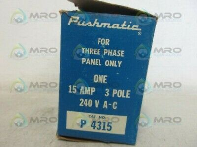 Pushmatic P4315 Circuit Breaker *New In Box*