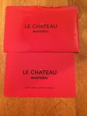 le chateau 250.00CAN$ gift card for 170$