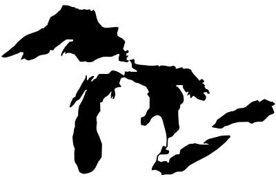 MICHIGAN  GREAT LAKES DECAL  Vinyl Decal Sticker *LOOK* 12 COLORS