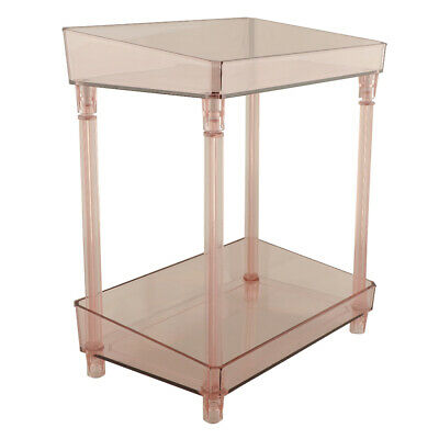 2 Tiers Desk Makeup Storage Organizer Cosmetic Holder Container Box Wine Red