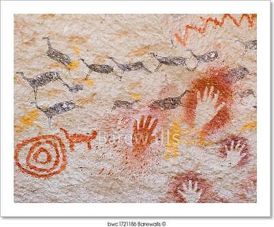 Ancient Cave Paintings, Art Print/Canvas Home Decor Wall Art Poster - D