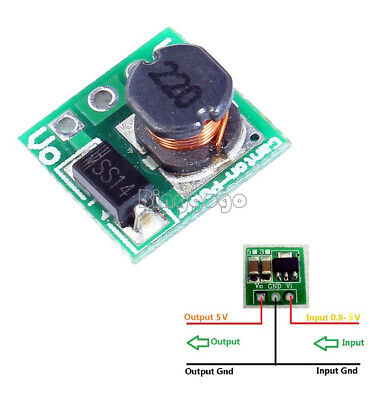 5Stks DC 1.8 2.5V 3V 3.3V 3.7V To 5V Step Up Power Voltage Boost Converter Board