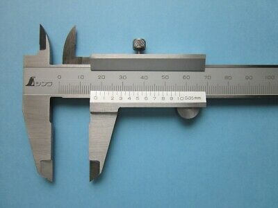 SHINWA Vernier Caliper 150mm Stainless Hardened Metric Machinist 19899 Japan