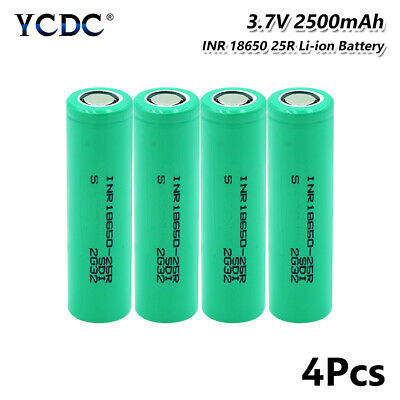 Original 20A Discharge INR 18650 25R Battery 3.7V 2500mAh For Vape E-cig 4Pcs 4