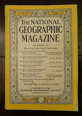 Vintage December 1947, The National Geographic Magazine, Vol. XCII, No 6
