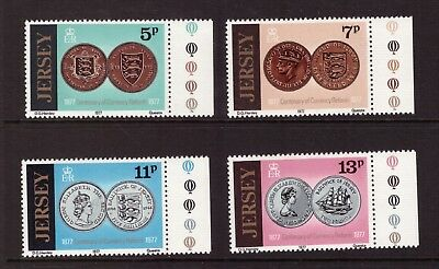 Jersey MNH 1977 Currency Reform set mint stamps