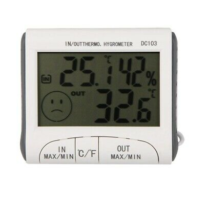 LCD Digital Thermometer Hygrometer Moisture Meter and Wired Temperature with AL
