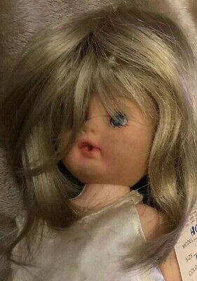 Doll Wig Size 13-14 Style Baby Color Blonde 100/% Modacrylic By Global Dolls NOS