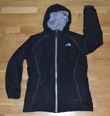 Genuine THE NORTH FACE HYVENT girls insulated hooded coat jacket XL VGC BLACK