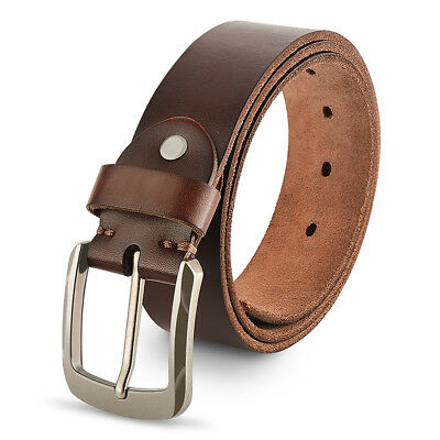 Genuine Leather Belts For Men, 100% Full Grain Fashion Mens Leather Belts.
