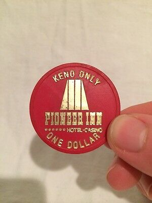 Drink Token From The Pioneer Inn Hotel Reno Keno Casino Poker Chip Gambling