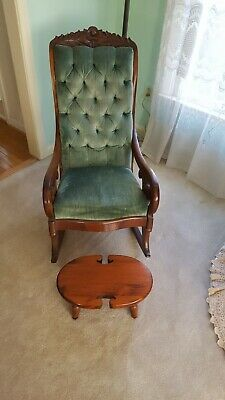 "Rosewood ""Lincoln"" rocking chair, Victorian, Civil War Vintage"