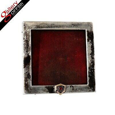 Antique Imperial Russian Silver Faberge Gold Ruby Picture Frame Photograph Photo