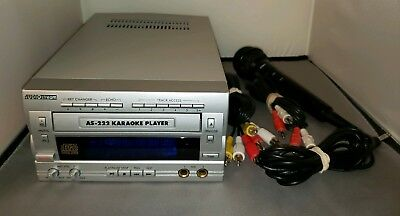 AudioStream AS-222 Karaoke Player CD+G w/Audio&Video Output Jacks 9 CDs + Mic