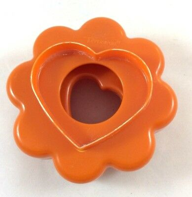 HEART FLOWER ROUND STAR SCALLOP Vintage TUPPERWARE Nested Cookie Cutters