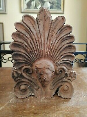 Old Antefix Akrokeramo Greece Greek Ceramic Traccotta Zeus or Poseidon Rare