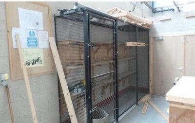 Wall Mounted Secure Cage 3 Section