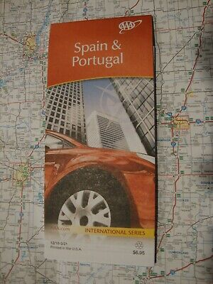 AAA NEW SPAIN & PORTUGAL Travel Road Map Vacation Roadmap 2018-2021