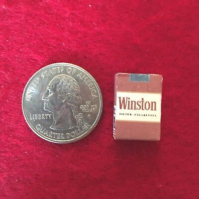 "1:6 scale handmade miniature for 11""-12"" size dolls - Winston cigarette pack"
