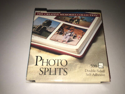 500 Photo Splits Tape Squares Creative Memories Double Sided Scrapbook Adhesive