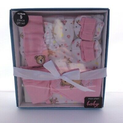 Baby Girl 5 Piece Gift Set 0-3 month Pink (AT)