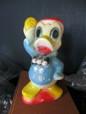 Old Donald Duck Chalkware Figurine Statue Carnival Prize Vintage 1940S