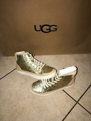 6632bebcb83 UGG GRADIE GLITTER Gold Fashion High Top Sneakers Size Us 9.5 ...
