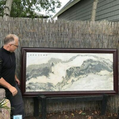 China Extraordinary Natural Marble Stone Painting Mountainscape Masterwork